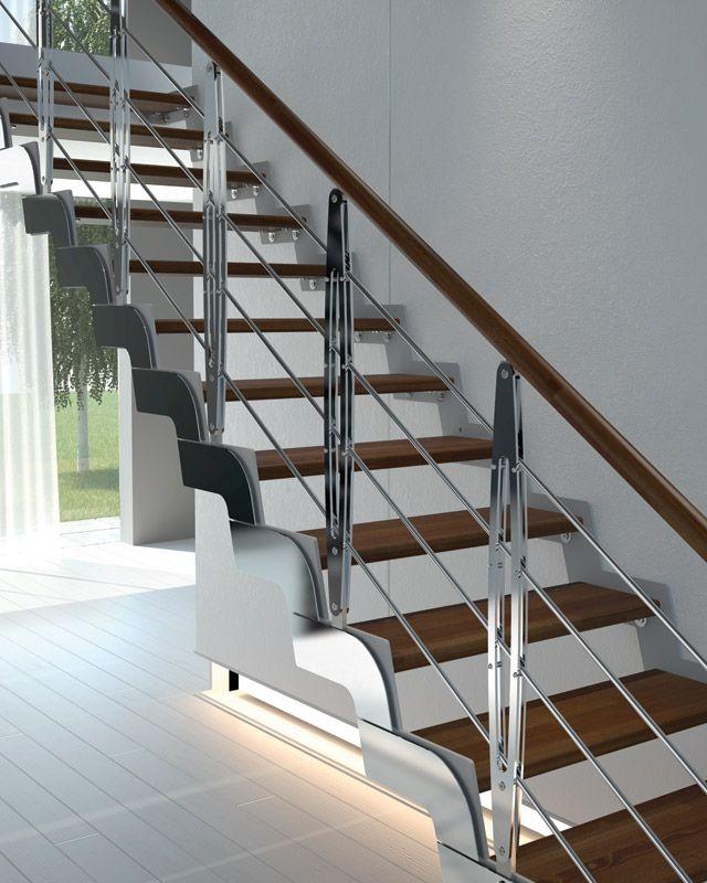 Escalera abierta autoportante recta de haya loft colecci n - Escalera caracol prefabricada ...