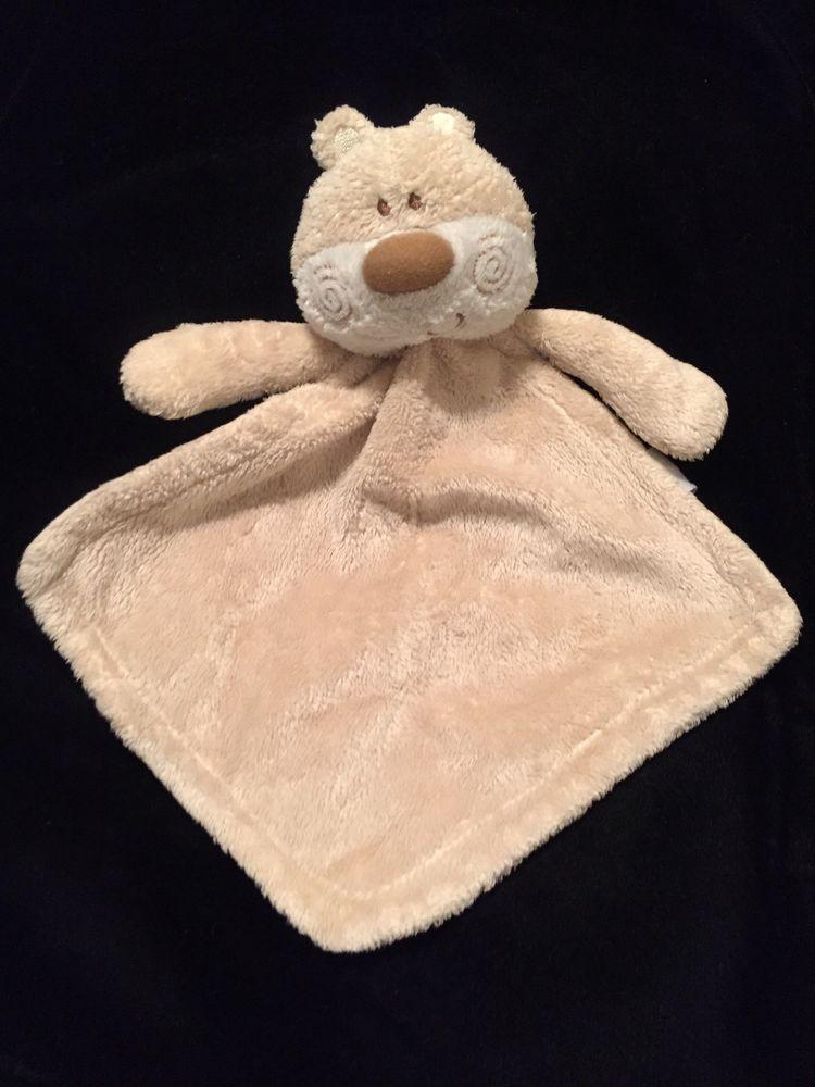 NEW PRIMARK TEDDY BEAR COMFORTER SOFT TOY BLUE WHITE STAR BLANKIE DOUDOU