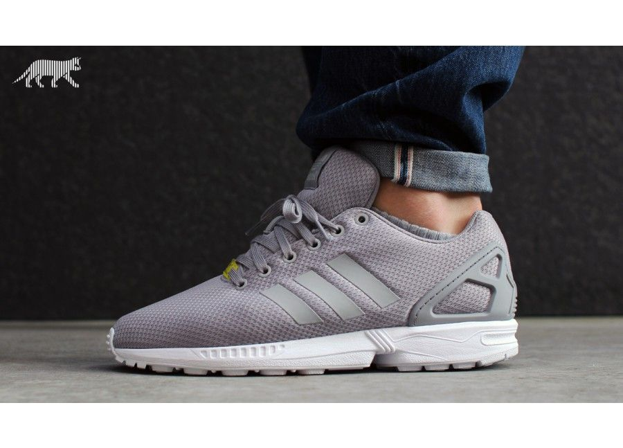 Adidas adidas Originals ZX Flux Grey & Blue Sneakers Asos