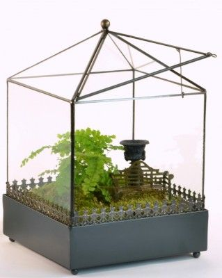 New from H Potter the perfect glass terrarium for you plants. Includes plastic liner and door for venting when needed.