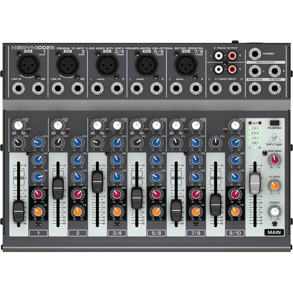 Behringer XENYX Premium 10Input 2Bus Analog Mixer