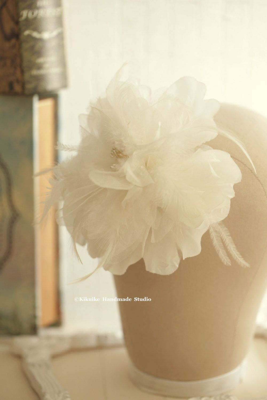 Party Hair Accessorywhite Bridal Hair Flowerflower Clipwhite