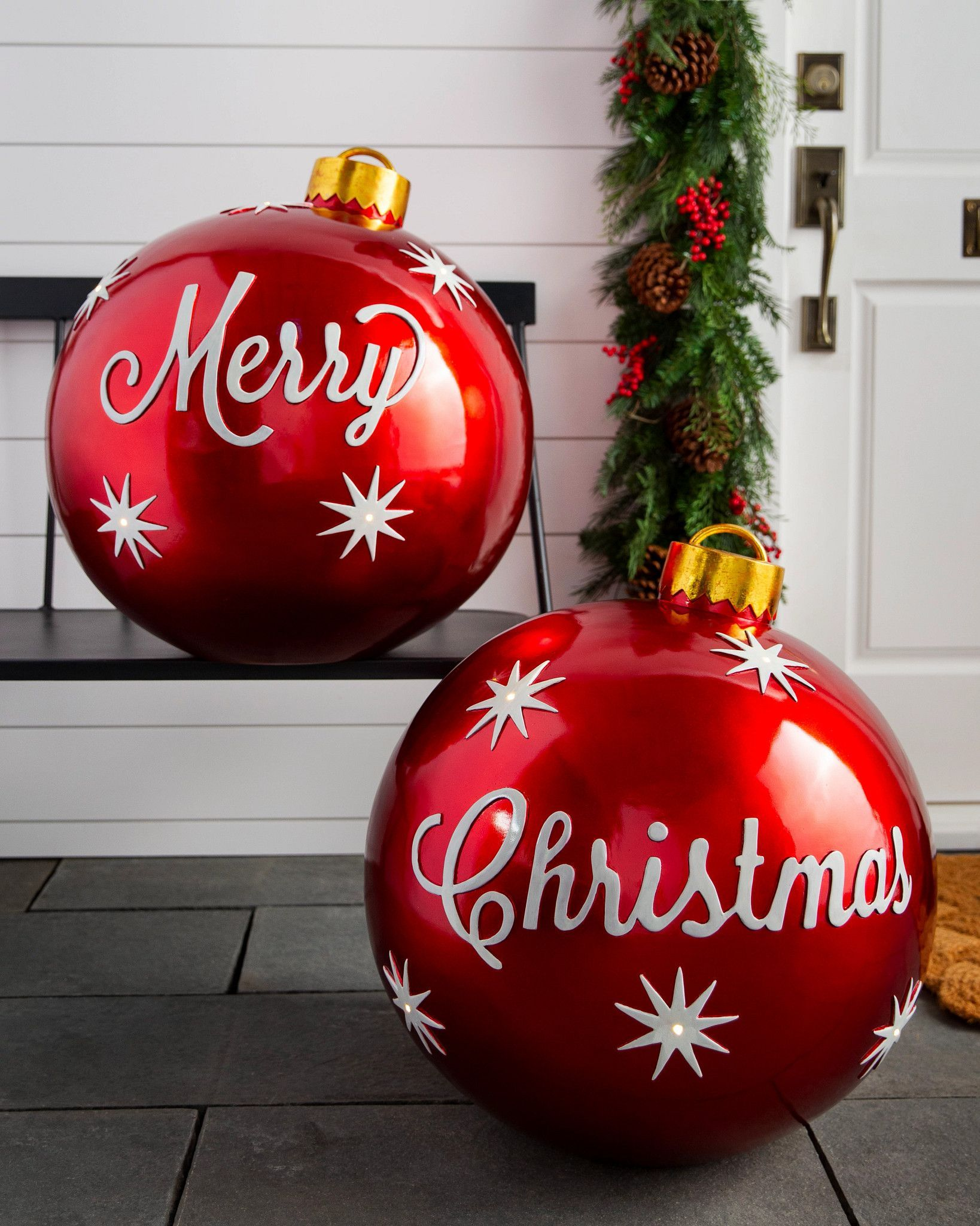 Outdoor Merry Christmas Ornaments Balsam Hill Large Christmas Ornaments Outside Christmas Decorations Large Outdoor Christmas Ornaments