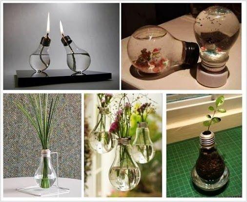 Reciclar bombillas decoracion hogar google - Manualidades hogar decoracion ...