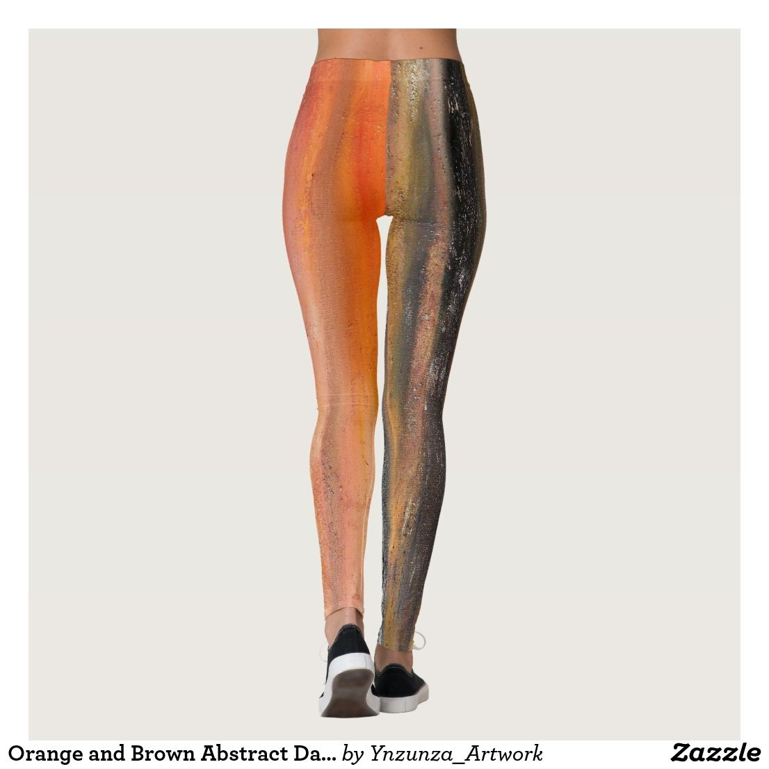 8e626364a84 Orange and Brown Abstract Dance Leggings