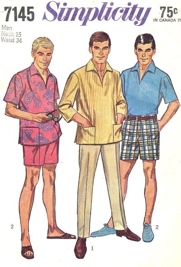 "Vintage Années 1950 Sewing Pattern Men/'s Pantalon Pantalon /& Chemise Taille 34/"""