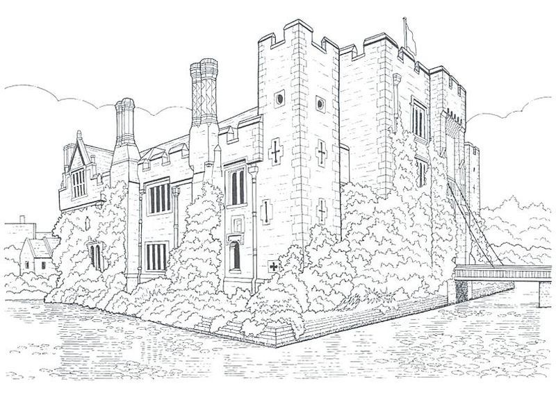 bowser castle coloring pages. The castle is a large