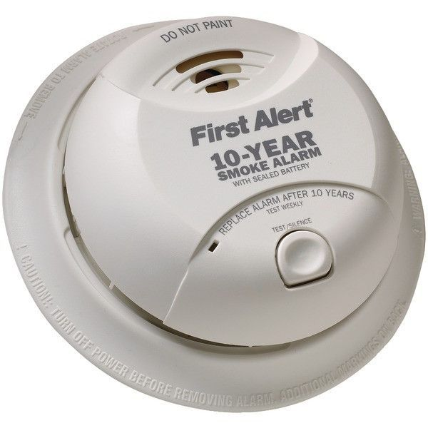 First Alert Sa340cn Smoke Alarm With Lithium Battery Smoke Alarms Fire Detectors Motion Sensor Lights Outdoor