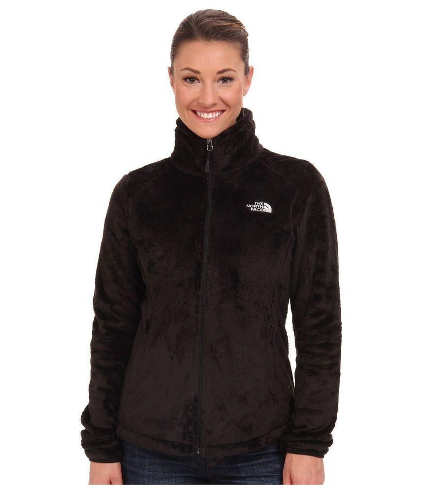 c259414aa NEW The North Face Womens Osito Fleece Zip Winter Jacket Coat Black ...
