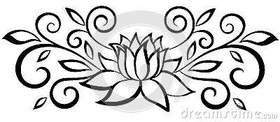 Flor De Loto Dibujo Blanco Y Negro Buscar Con Google Tatuajes Y