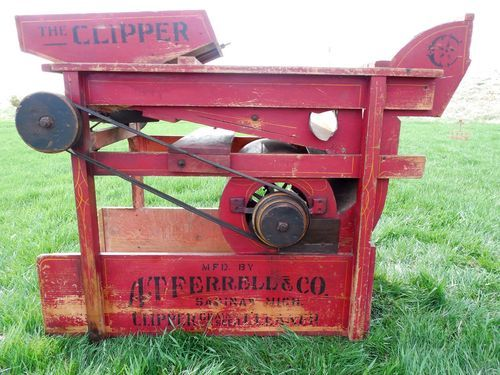 Clipper Fanning Mill Seed Cleaner No 1b A T Ferrell Homestead