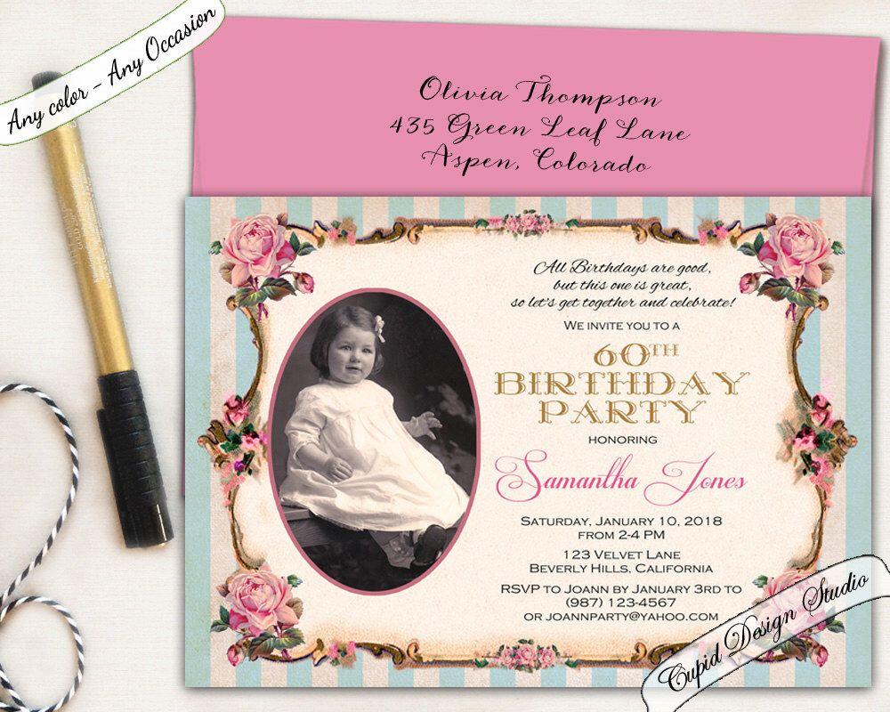 New To CupidDesigns On Etsy Elegant Birthday Invitation Pink And Gold