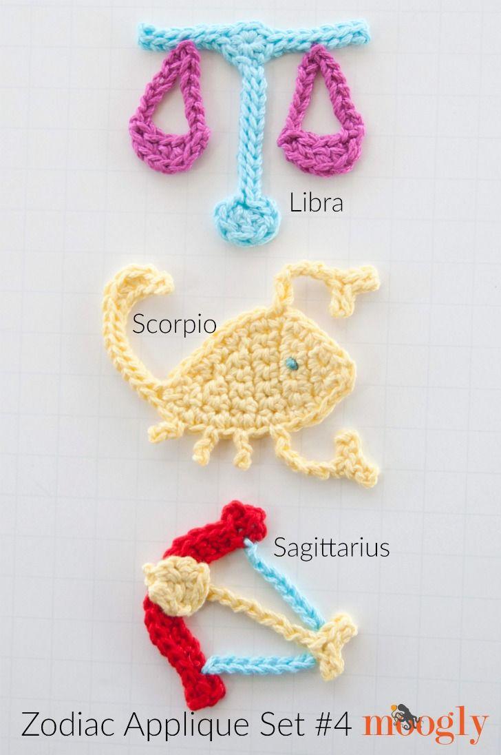crochet #Zodiac #Applique   Crochet   Pinterest   Apliques ...