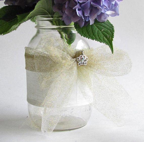 tulle wedding vase vases visit decor centerpieces