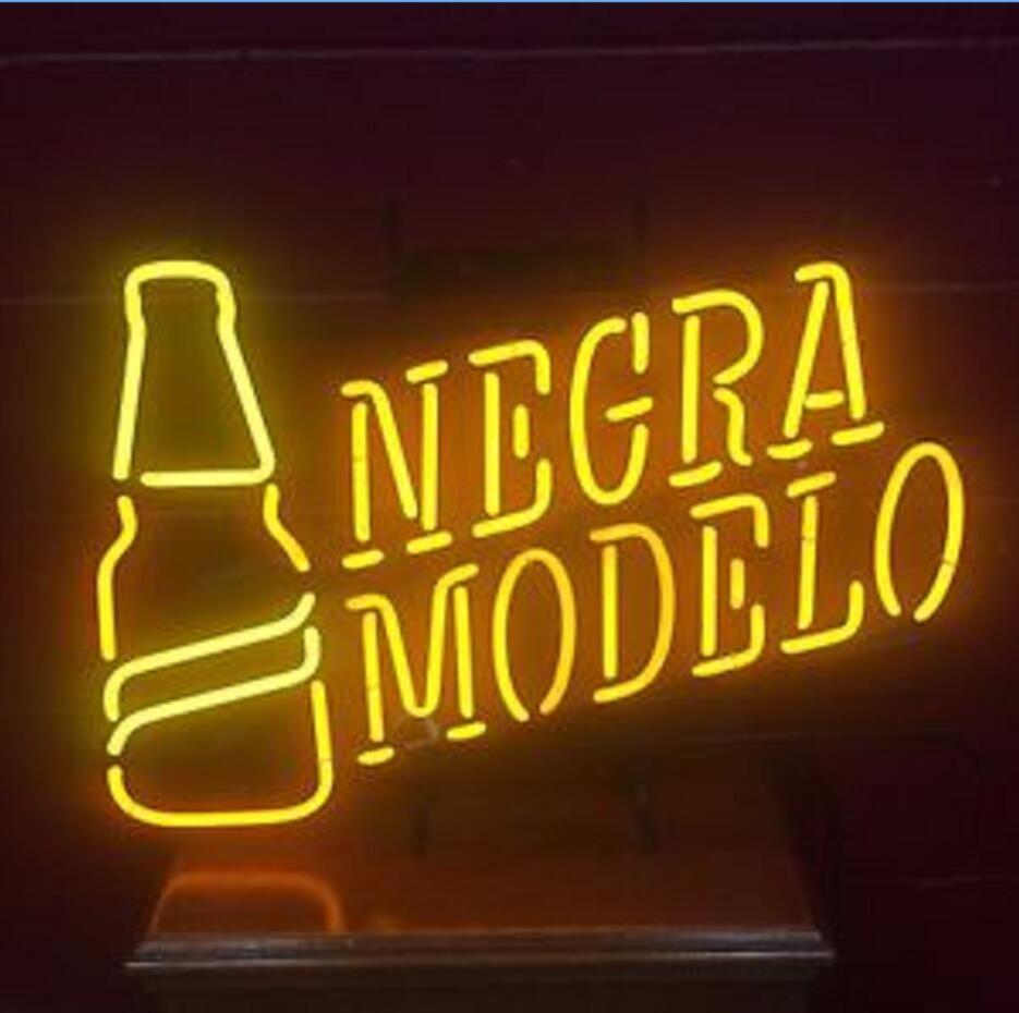 Negra Modelo Neon Sign Display Beer Bar Pub Real Neon