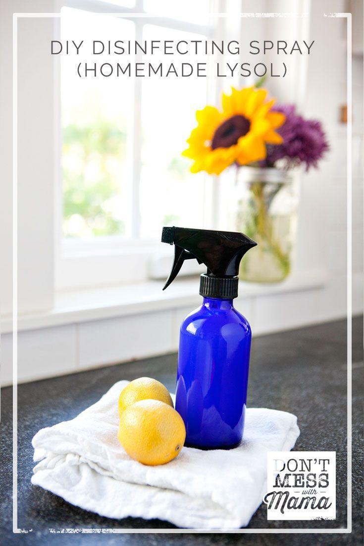 Diy disinfectant spray homemade lysol diy sprays