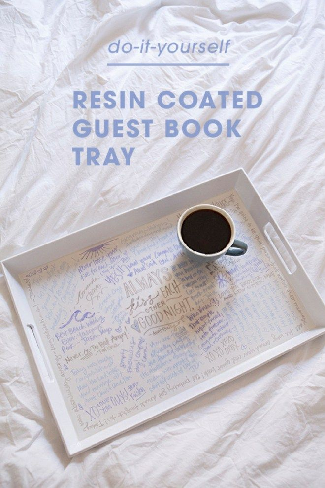 Make Your Own Resin Coated Guest Book Serving Tray! | Gifts/Partys ...