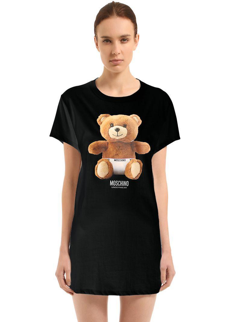 c24c83b9 MOSCHINO UNDERWEAR TEDDY BEAR COTTON JERSEY MAXI T-SHIRT.  #moschinounderwear #cloth #
