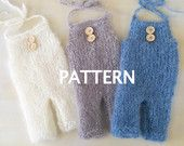 PDF PATTERN: Baby Romper Pattern, Baby Dungaree pattern, Baby onesie pattern, knitting pattern, baby photography prop pattern. Newborn prop