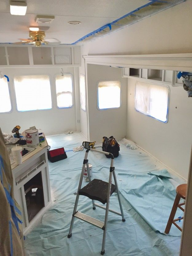 how to paint camper interior | rv, camper interior and camping