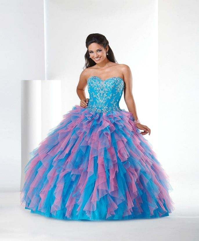 Colorful Poofy Prom Dresses