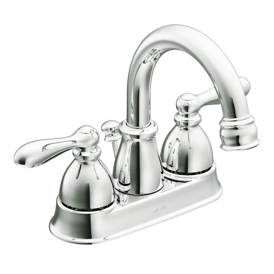 Moen Caldwell Chrome 2 Handle 4 In Centerset Watersense Bathroom