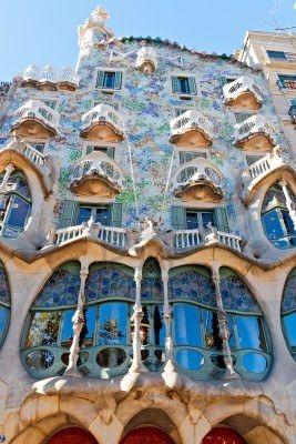 Barcelona Spain November 11 Casa Batlla Facade The Famous