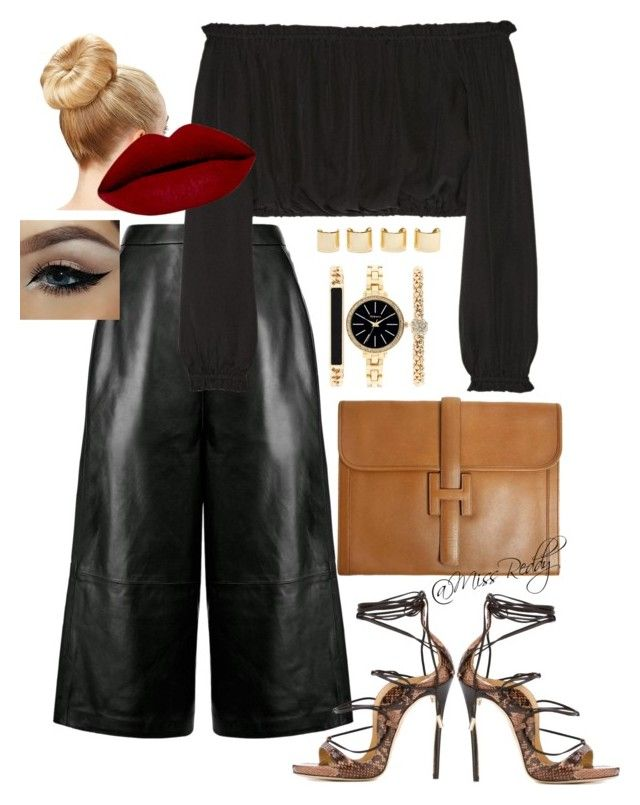 """Untitled #112"" by missreddy on Polyvore featuring Whistles, Elizabeth and James, Dsquared2, Hermès, Style & Co. and Luv Aj"