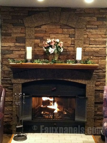 Fireplace Rock Wall faux rocks for fireplace | draw eyes to your fireplace  ideas