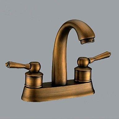 Double poign e bassin traditionnel de salle de bains - Double evier salle de bain ...