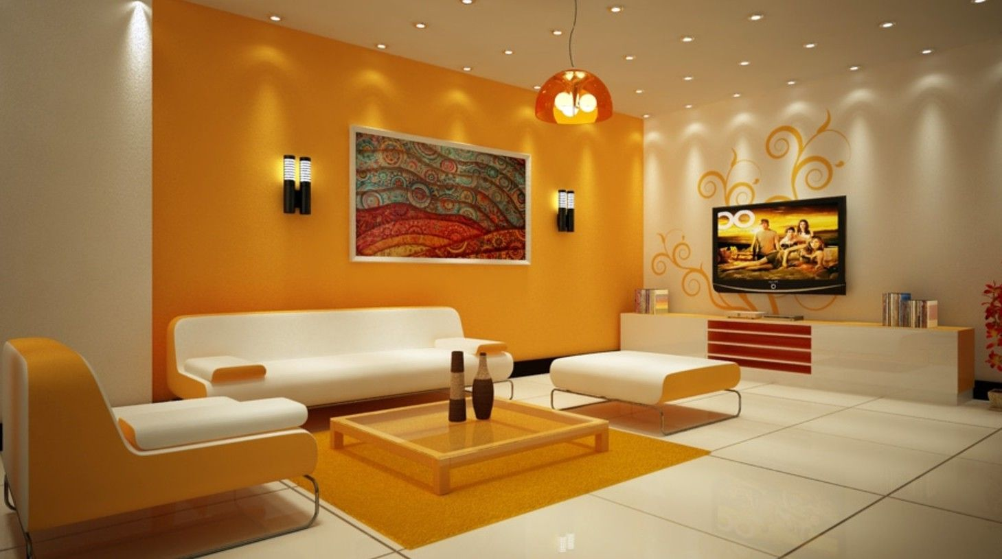 Creative Photo Of Modern Color Combination For Living Room Interior Design Ideas Home Decorating Inspiration Moercar Living Room Wall Color Living Room Orange Room Color Combination #sample #of #living #room #designs