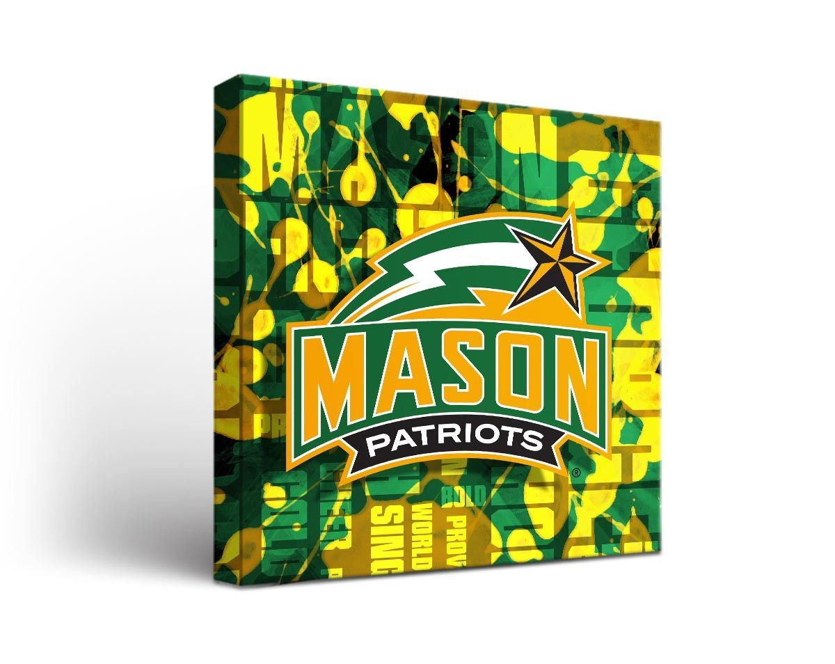 Color printing gmu - George Mason Patriots Fight Song Art Print On Canvas Square