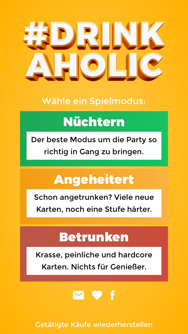 Drinkaholic Trinkspiel App - Beispiele & Tipps