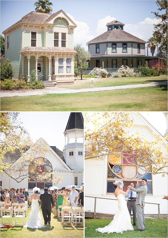 Wedding Venue Heritage Square Museum Succulent Bouquet Shannon Losorelli Doronio Jay Los Angeles