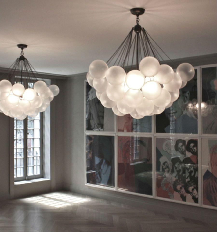 Stunning Bubble Chandeliers In Upside Down Arrangement Of Giant