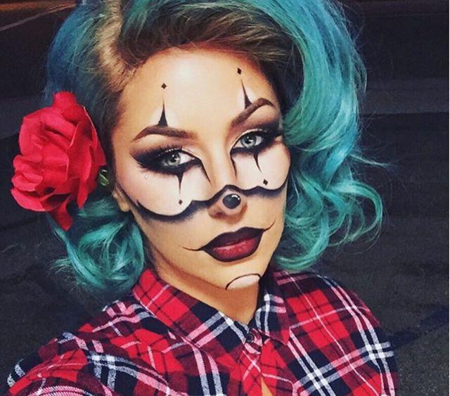 Gangster Clown Halloween Makeup inspired by chrisspy #justrosh