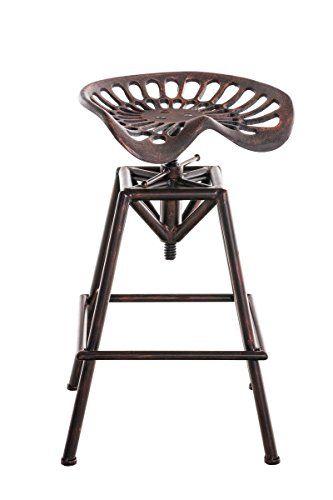 clp tabouret de bar en metal samson chaise selle style industriel classique et robuste reglable en hauteur 62 82 cm bronze amazon fr cuisine