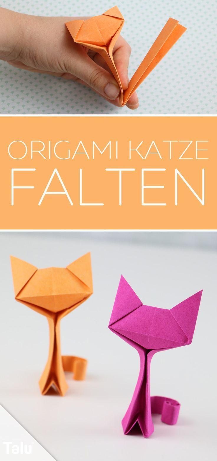 Origami Katze basteln - Anleitung zum Falten aus Papier/Geldschein - Talu.de