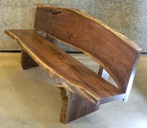 Wood Slab Bench With Back Google Search Black Walnut Lumber