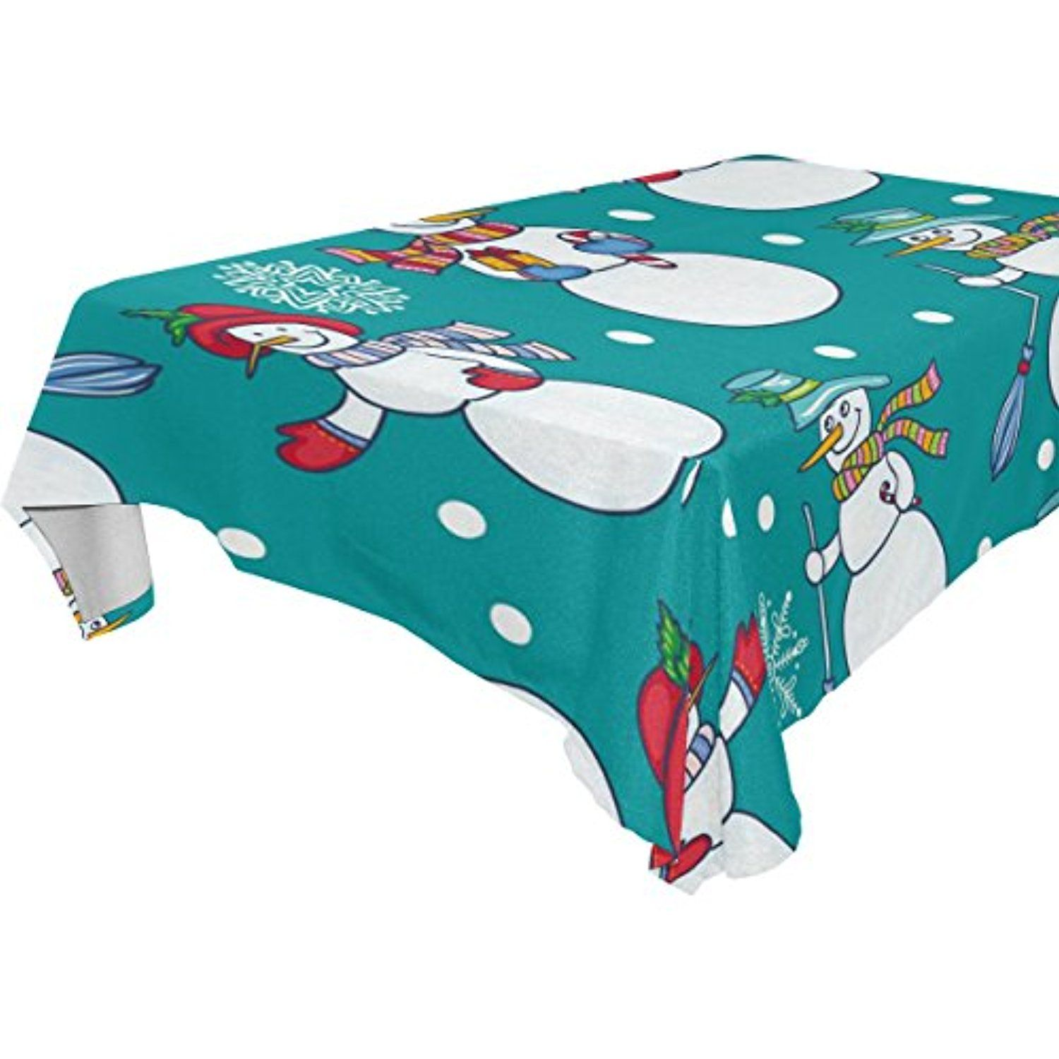 ALAZA Merry Christmas ,Rectangular Tablecloth for Dinner,Kitchen ...