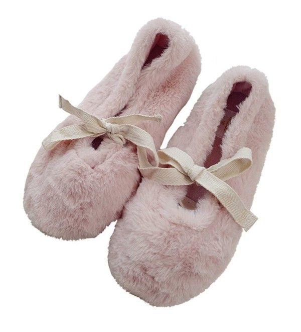 Women's Comfort Plush Fleece Memory Foam Ballerina House