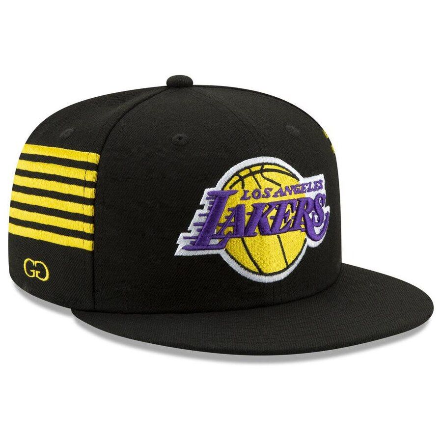 separation shoes 11d21 6c6dc Los Angeles Lakers New Era Grungy Gentleman 59FIFTY Fitted Hat – Black,  Your Price