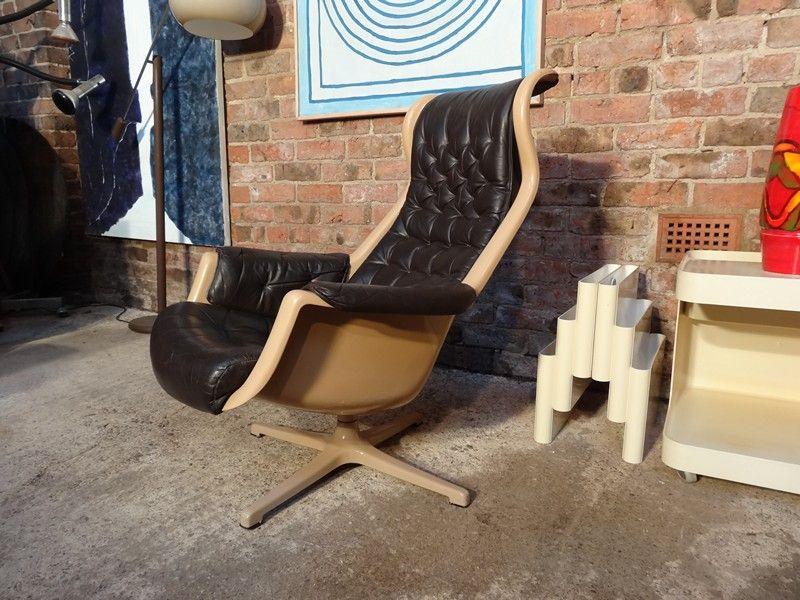 1960u0027s Space Age Swedish Galaxy Lounge Chair Dux Designed By Alf Svensson U0026  Yngvar Sandström #