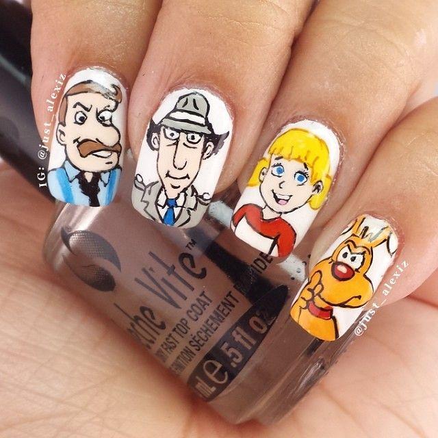 inspector gadget by just_alexiz #nail #nails #nailart | - Nail Art ...