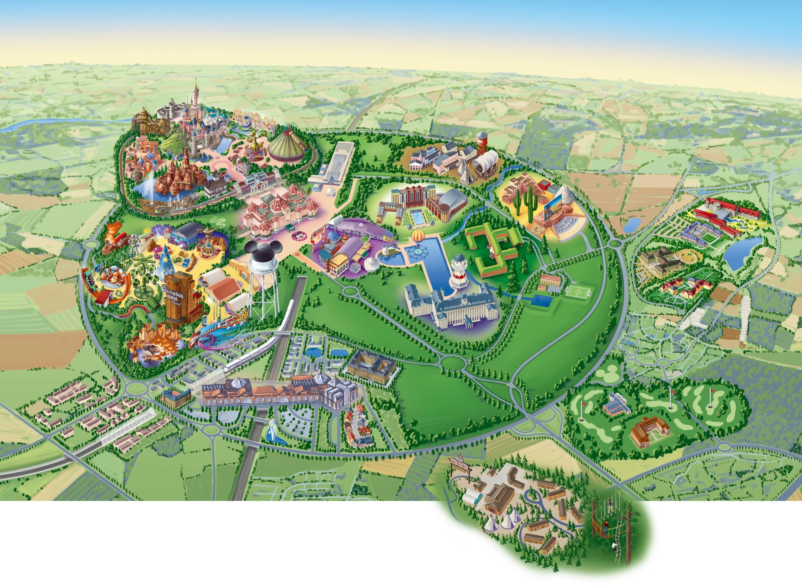 Map of the whole park Disneyland Paris
