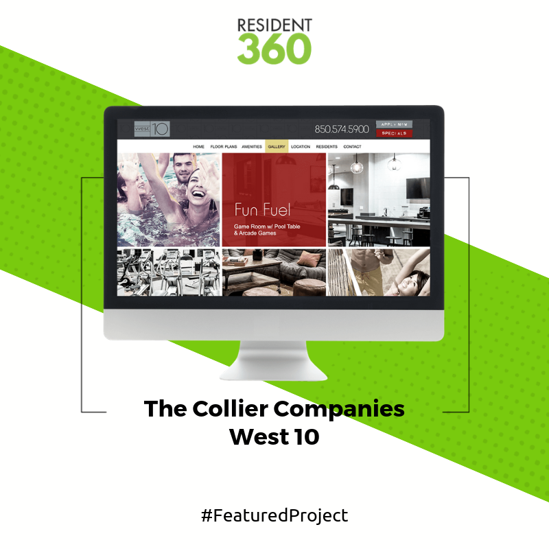 The Collier Companies Approached Resident360 In Need Of A Fresh Makeover Of Their Student Housing Website West10 Res Student House Apartment Websites Makeover