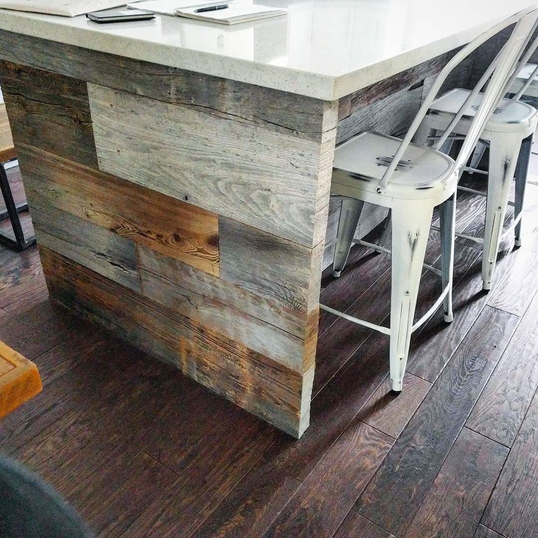 Kitchen island wrap using our 100 plus year old authentic ontario kitchen island wrap using our 100 plus year old authentic ontario barn board this is workwithnaturefo