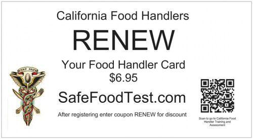 CA Food Handlers Card Food Handler Training Pinterest Food - food handlers test answers