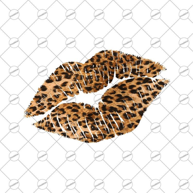Lips Clipart Sublimation Designs Downloads Leopard Lips