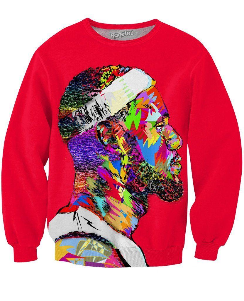 Lebron Crewneck Sweatshirt Mens Sweatshirts Graphic Crew Neck Sweatshirts Sweatshirts Menswear [ 1024 x 832 Pixel ]